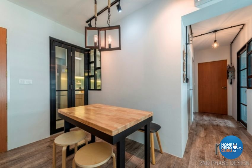 Industrial, Rustic, Scandinavian Design - Dining Room - HDB 3 Room - Design by 2nd Phase Design