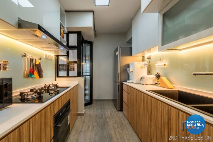 Industrial, Rustic, Scandinavian Design - Kitchen - HDB 3 Room - Design by 2nd Phase Design