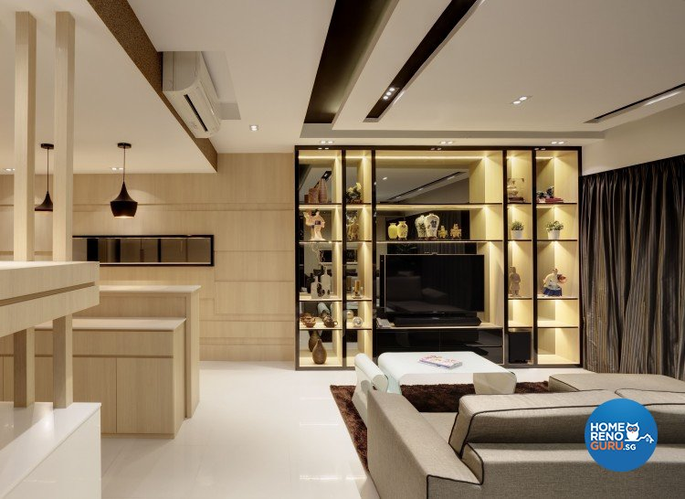 Contemporary Design - Living Room - Condominium - Design by 3D Innovations Design Pte Ltd