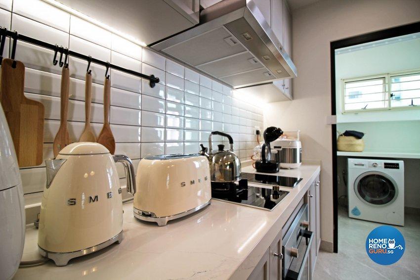 Modern, Scandinavian, Victorian Design - Kitchen - HDB 5 Room - Design by 3+i DESIGN STUDIO