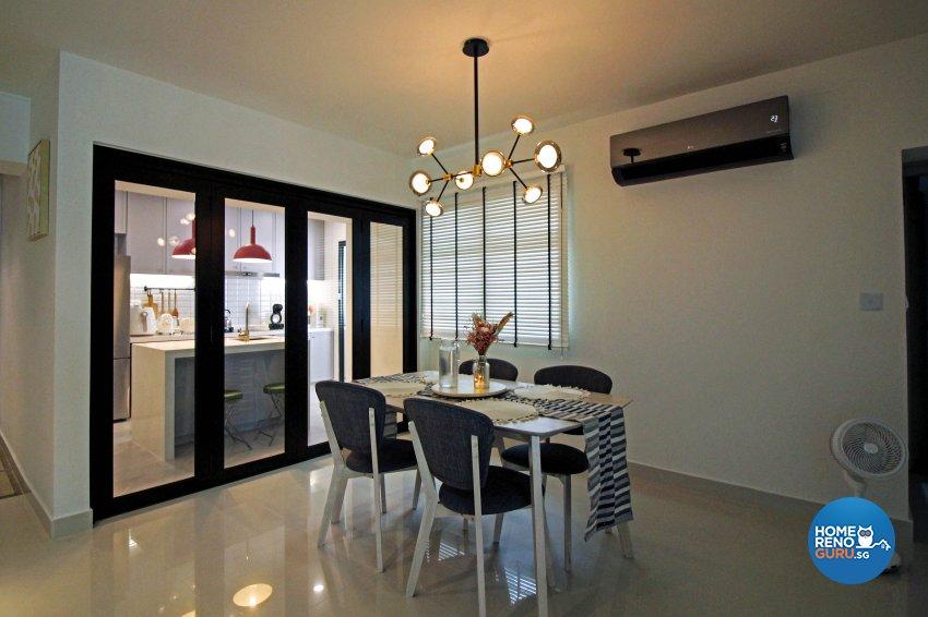 Modern, Scandinavian, Victorian Design - Dining Room - HDB 5 Room - Design by 3+i DESIGN STUDIO