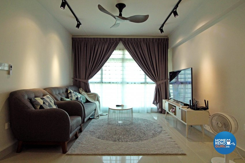 Modern, Scandinavian, Victorian Design - Living Room - HDB 5 Room - Design by 3+i DESIGN STUDIO