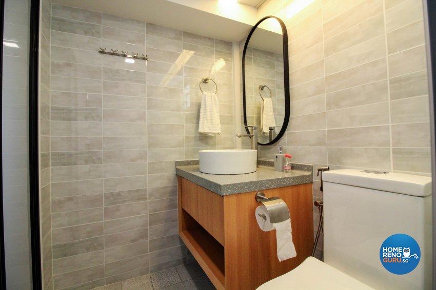Modern, Scandinavian, Victorian Design - Bathroom - HDB 5 Room - Design by 3+i DESIGN STUDIO