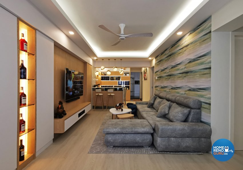Contemporary, Others, Scandinavian Design - Living Room - HDB 4 Room - Design by 3+i DESIGN STUDIO