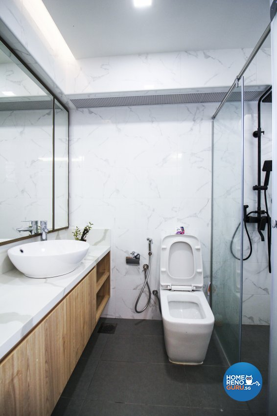Contemporary, Modern Design - Bathroom - HDB 4 Room - Design by 3+i DESIGN STUDIO