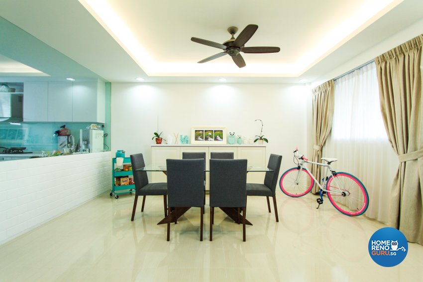 Contemporary, Mediterranean, Modern Design - Dining Room - HDB 4 Room - Design by 4Mation ID Pte Ltd