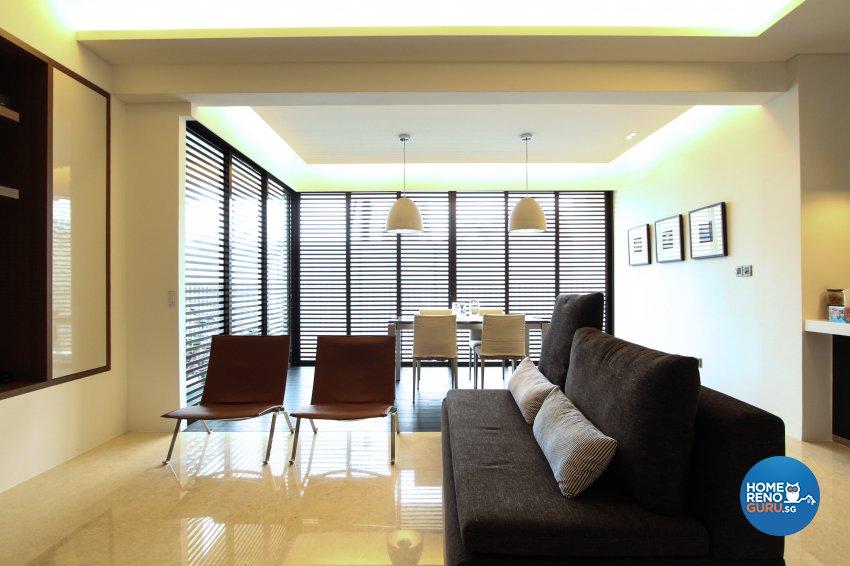 Contemporary, Modern Design - Living Room - Condominium - Design by 4Mation ID Pte Ltd