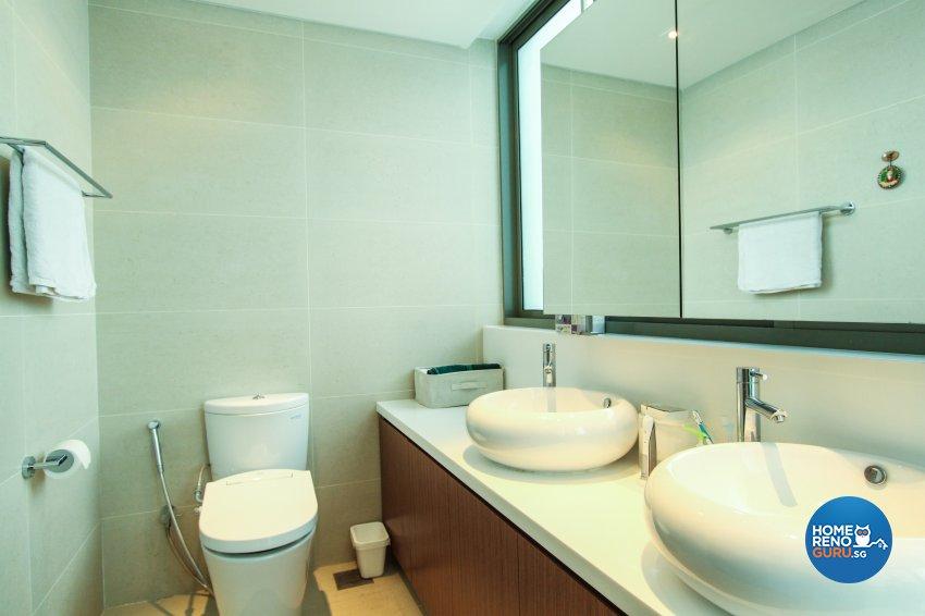 Contemporary, Modern Design - Bathroom - Condominium - Design by 4Mation ID Pte Ltd