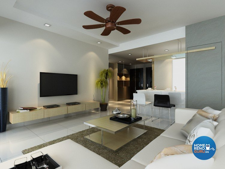 Modern Design - Living Room - Condominium - Design by 4Walls Group Pte Ltd