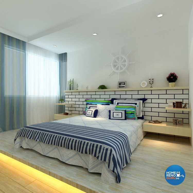 Eclectic Design - Bedroom - HDB 4 Room - Design by 4Walls Group Pte Ltd