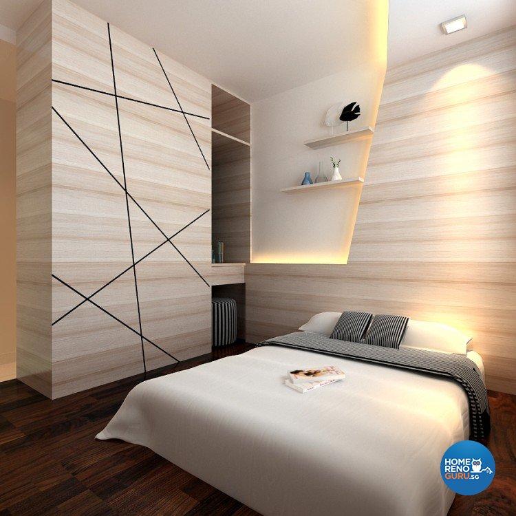 Modern Design - Bedroom - HDB 4 Room - Design by 4Walls Group Pte Ltd