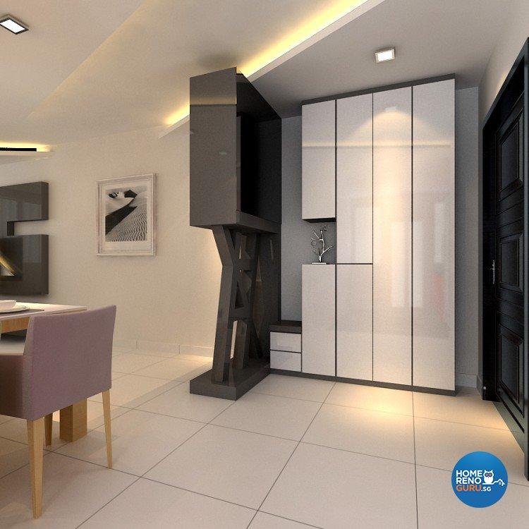 Modern Design - Living Room - HDB 4 Room - Design by 4Walls Group Pte Ltd