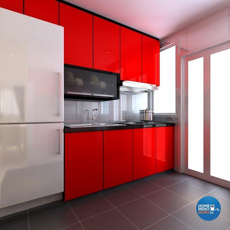 Modern Design - Kitchen - HDB 4 Room - Design by 4Walls Group Pte Ltd