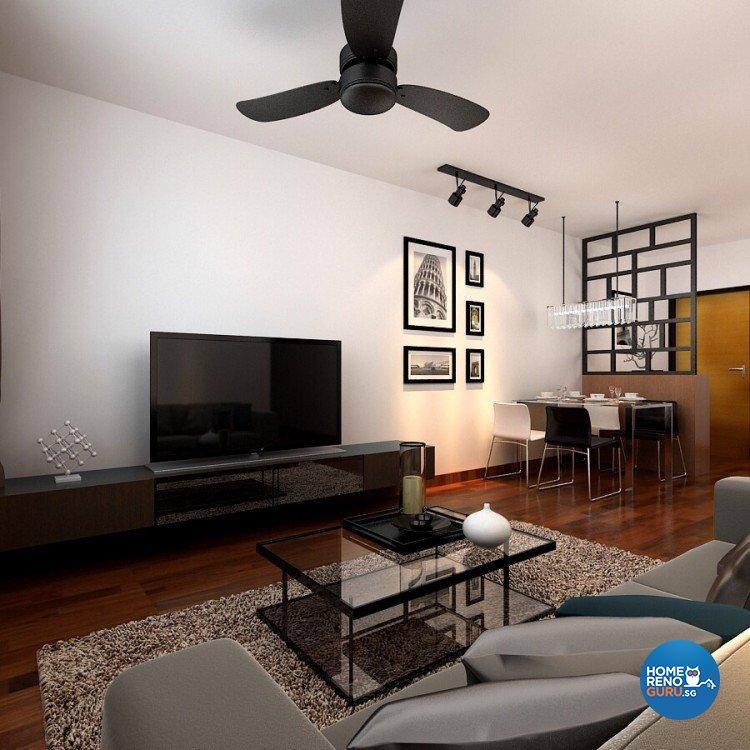 Scandinavian Design - Living Room - HDB 4 Room - Design by 4Walls Group Pte Ltd
