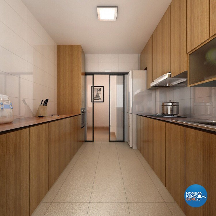 Scandinavian Design - Kitchen - HDB 4 Room - Design by 4Walls Group Pte Ltd