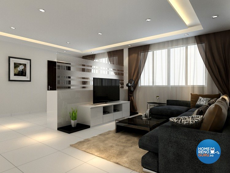 Minimalist Design - Living Room - HDB 5 Room - Design by 4Walls Group Pte Ltd