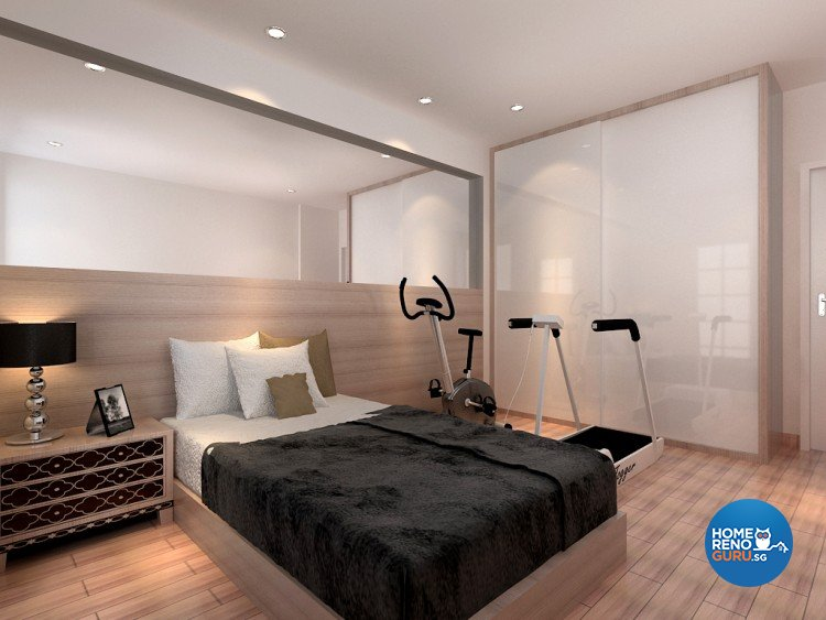 Minimalist Design - Bedroom - HDB 5 Room - Design by 4Walls Group Pte Ltd