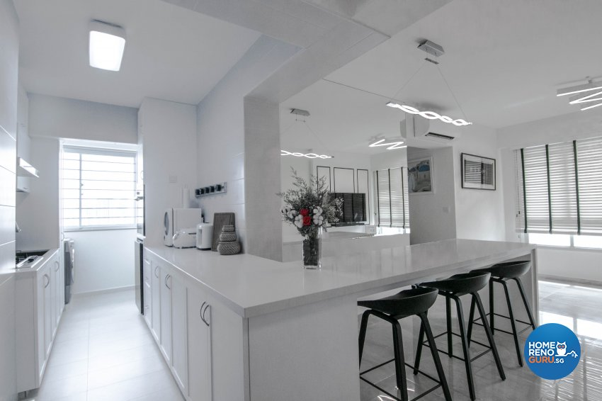 Contemporary, Scandinavian Design - Dining Room - HDB 3 Room - Design by 9 Creation Pte Ltd