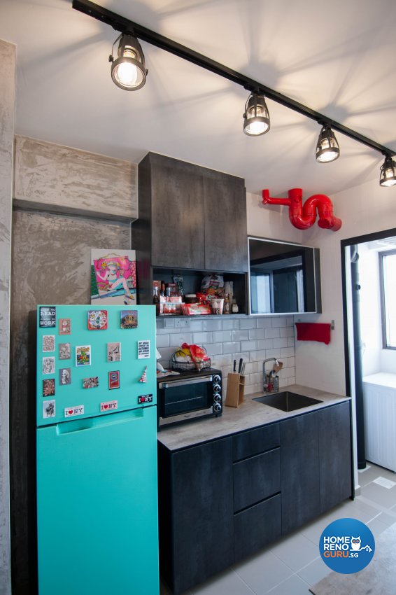 Eclectic, Industrial, Retro Design - Kitchen - HDB 3 Room - Design by 9 Creation Pte Ltd