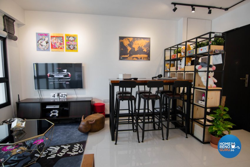 Eclectic, Industrial, Retro Design - Living Room - HDB 3 Room - Design by 9 Creation Pte Ltd
