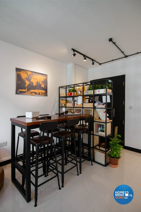Eclectic, Industrial, Retro Design - Dining Room - HDB 3 Room - Design by 9 Creation Pte Ltd