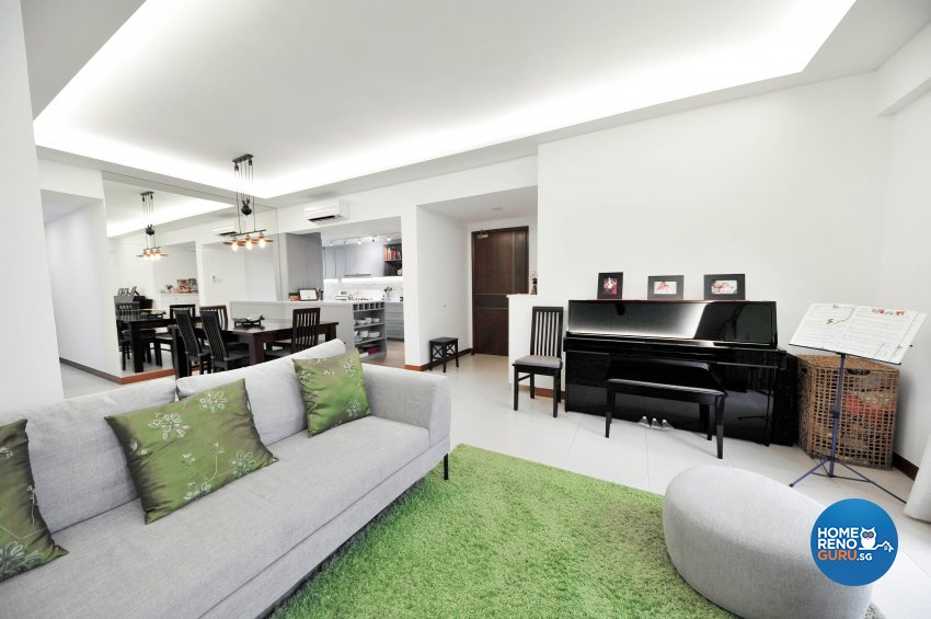Contemporary Design - Living Room - Condominium - Design by 9 Creation Pte Ltd