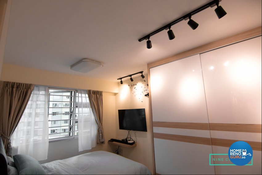 Eclectic Design - Bedroom - HDB 3 Room - Design by 9 Creation Pte Ltd