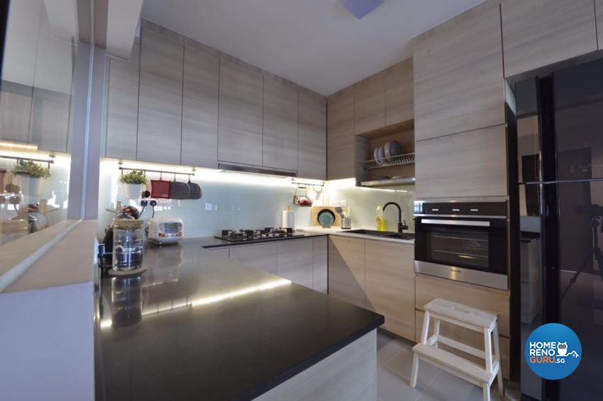 Contemporary, Modern, Scandinavian Design - Kitchen - HDB 4 Room - Design by 9 Creation Pte Ltd
