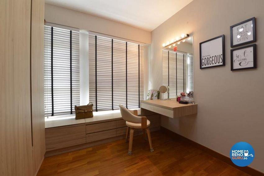 Contemporary, Modern, Scandinavian Design - Bedroom - HDB 4 Room - Design by 9 Creation Pte Ltd