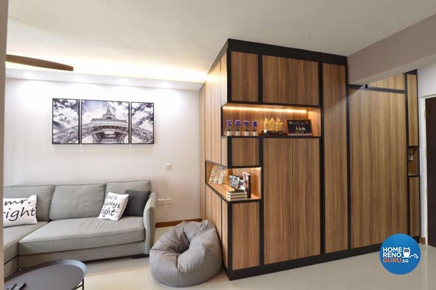 Contemporary, Modern, Scandinavian Design - Living Room - HDB 4 Room - Design by 9 Creation Pte Ltd