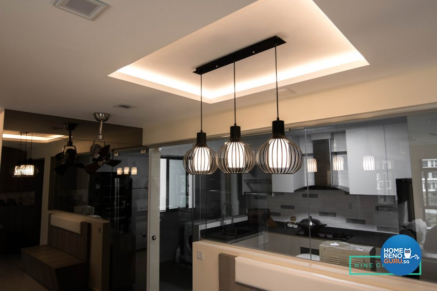 Contemporary, Modern Design - Dining Room - HDB 5 Room - Design by 9 Creation Pte Ltd