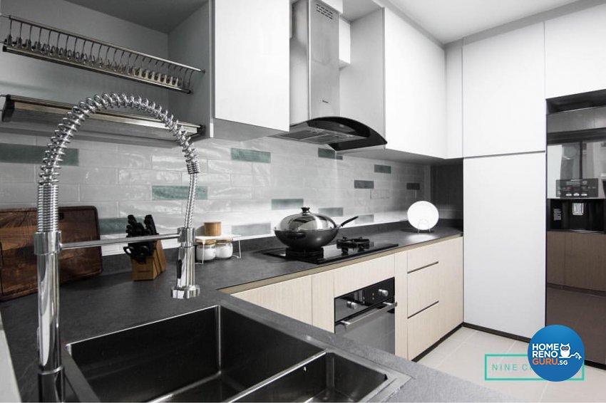 Contemporary, Modern Design - Kitchen - HDB 5 Room - Design by 9 Creation Pte Ltd