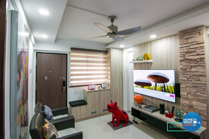 Eclectic Design - Living Room - HDB 3 Room - Design by 9 Creation Pte Ltd