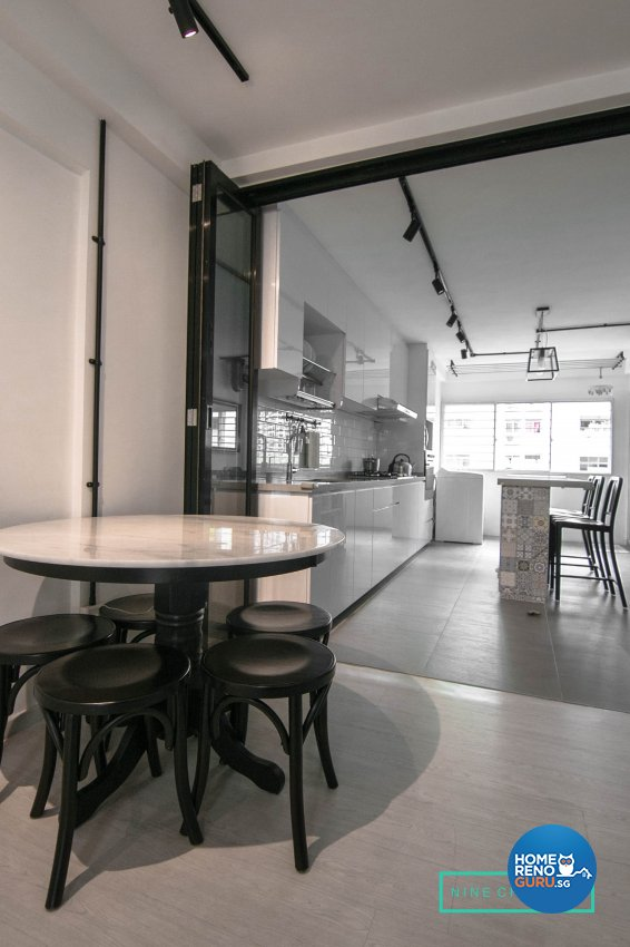 Eclectic Design - Dining Room - HDB 3 Room - Design by 9 Creation Pte Ltd