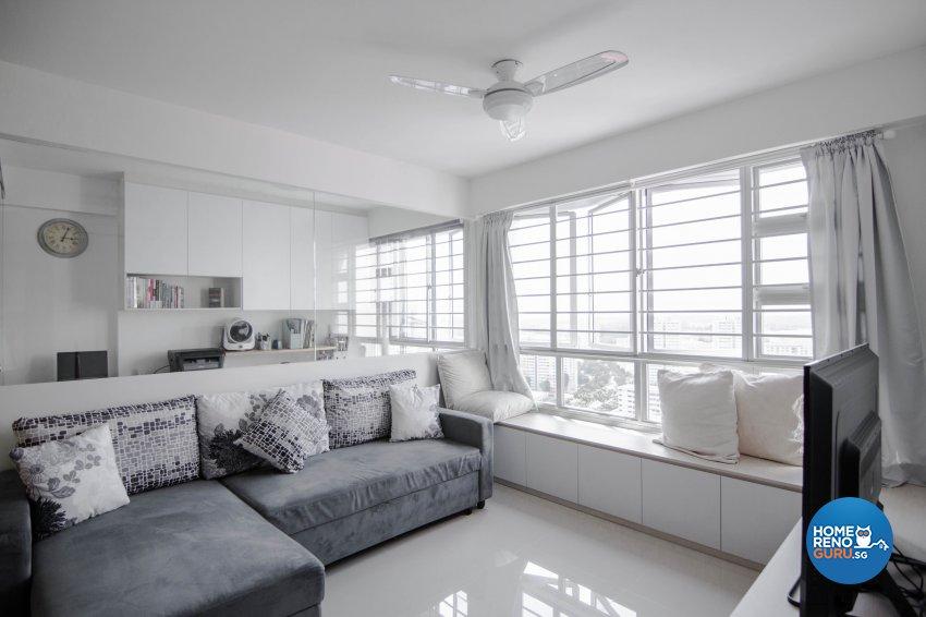 Modern Design - Living Room - HDB 5 Room - Design by 9 Creation Pte Ltd