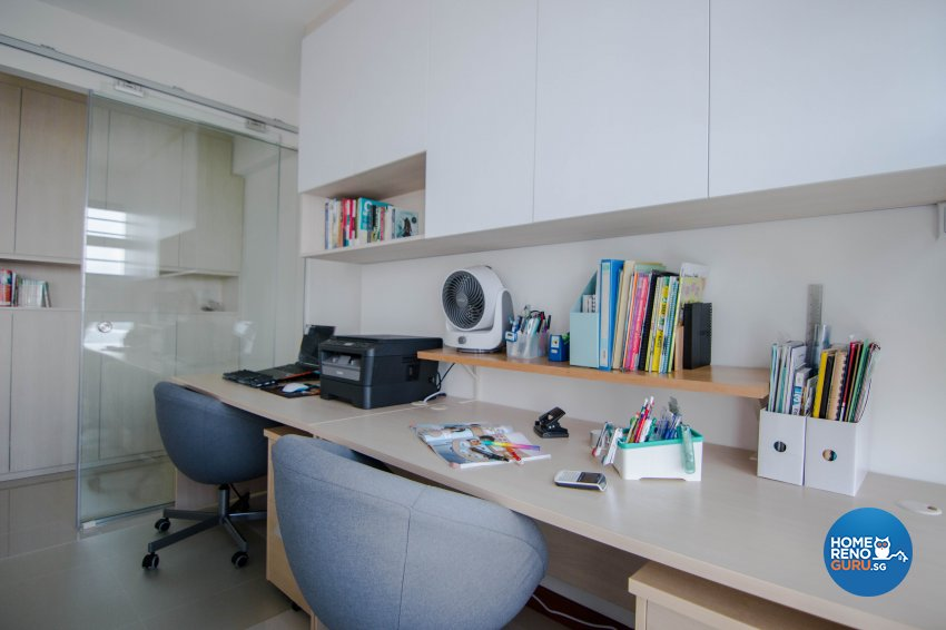 Modern Design - Study Room - HDB 5 Room - Design by 9 Creation Pte Ltd