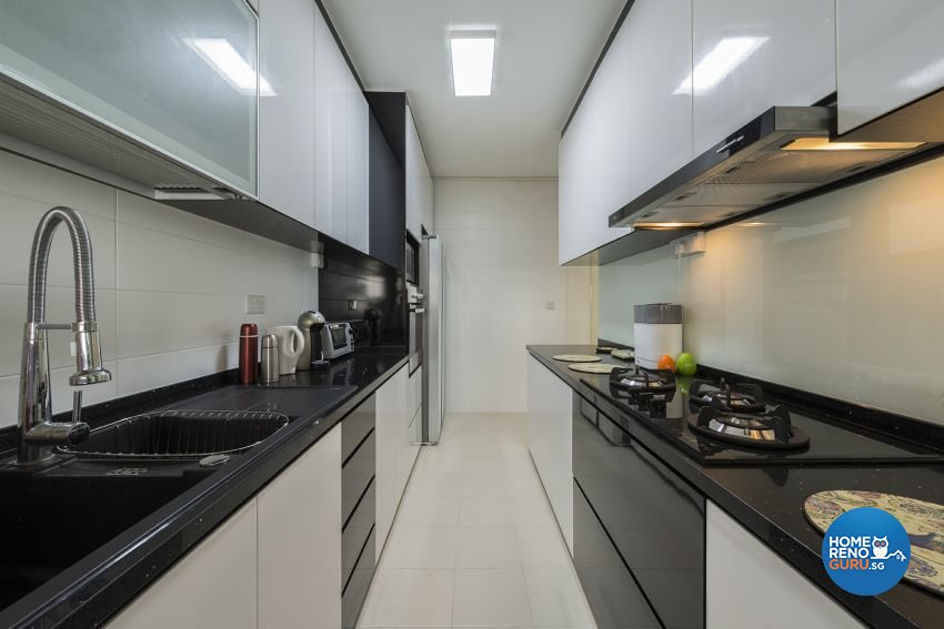 Modern Design - Kitchen - HDB 5 Room - Design by 9 Creation Pte Ltd