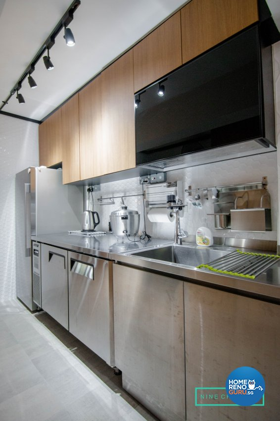 Modern Design - Kitchen - HDB 3 Room - Design by 9 Creation Pte Ltd