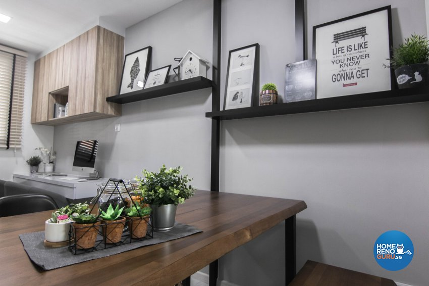 Contemporary, Scandinavian Design - Dining Room - HDB 5 Room - Design by 9 Creation Pte Ltd