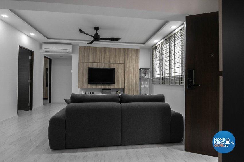 Contemporary, Scandinavian Design - Living Room - HDB 5 Room - Design by 9 Creation Pte Ltd