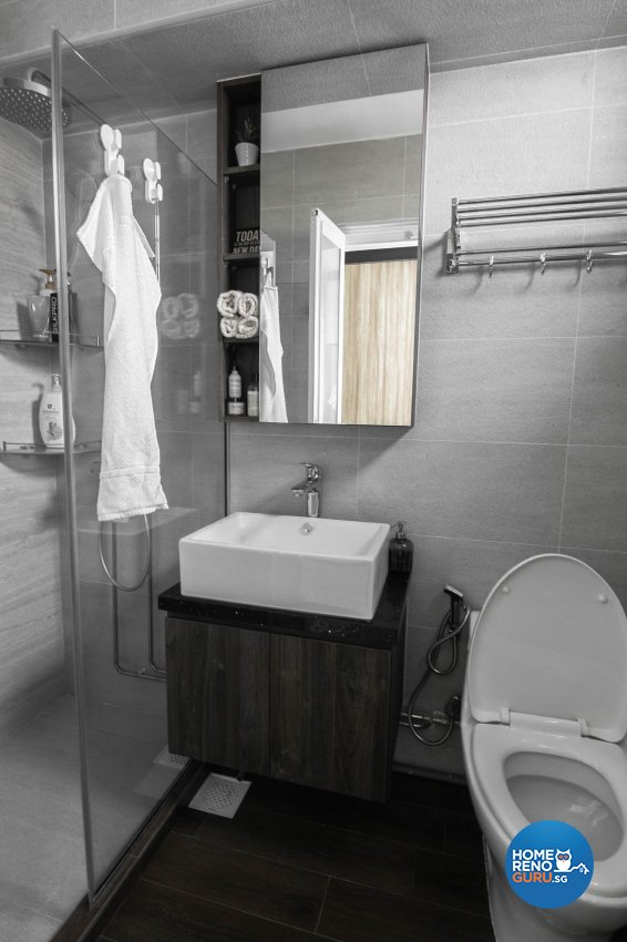 Contemporary, Scandinavian Design - Bathroom - HDB 5 Room - Design by 9 Creation Pte Ltd