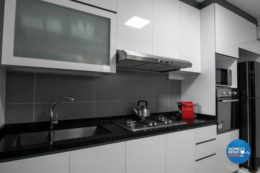 Contemporary, Modern Design - Kitchen - HDB 3 Room - Design by 9 Creation Pte Ltd