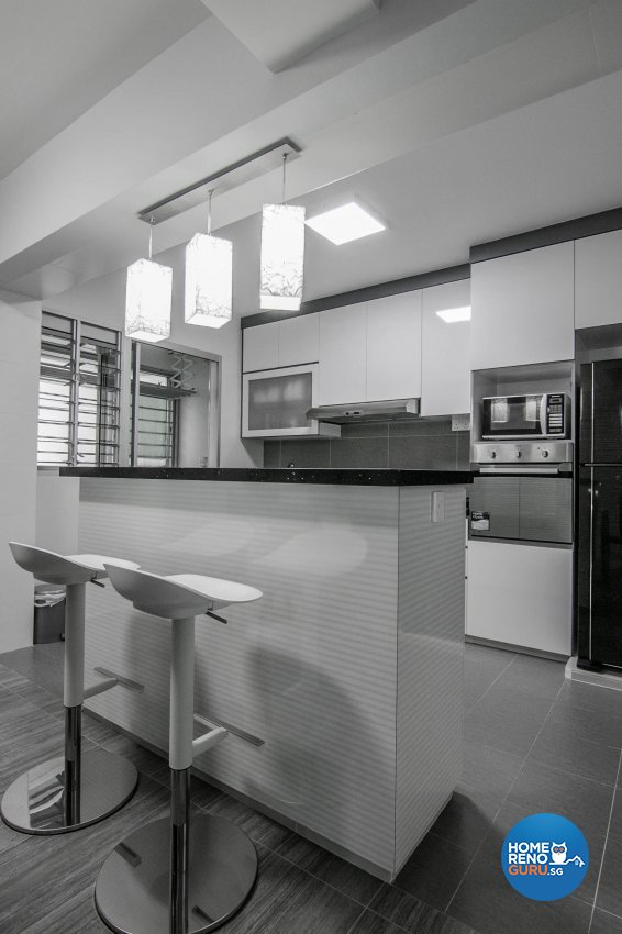 Contemporary, Modern Design - Kitchen - HDB 3 Room - Design by 9 Creation Pte Ltd