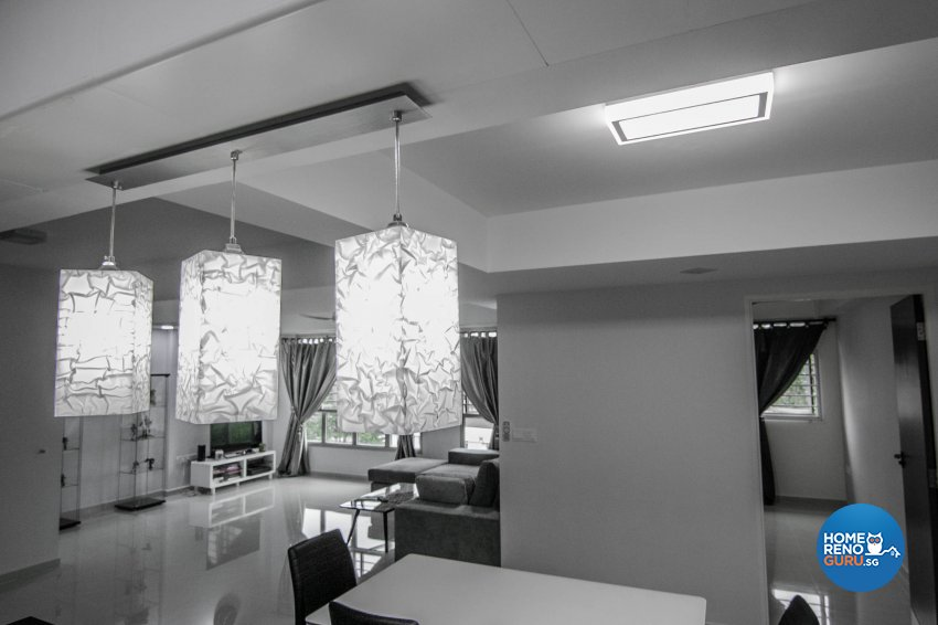 Contemporary, Modern Design - Dining Room - HDB 3 Room - Design by 9 Creation Pte Ltd