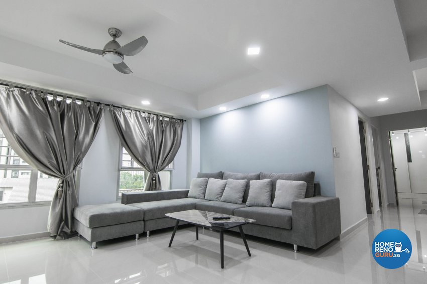 Contemporary, Modern Design - Living Room - HDB 3 Room - Design by 9 Creation Pte Ltd