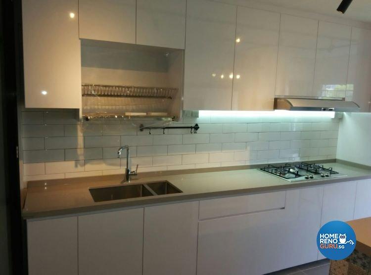 Contemporary, Minimalist, Modern, Scandinavian Design - Kitchen - HDB 3 Room - Design by 9 Creation Pte Ltd