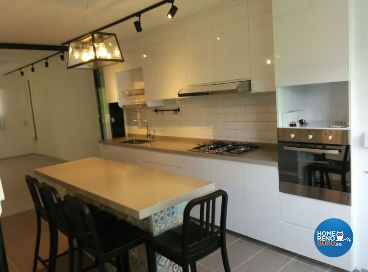 Contemporary, Minimalist, Modern, Scandinavian Design - Kitchen - HDB 3 Room - Design by 9 Creation Pte Ltd