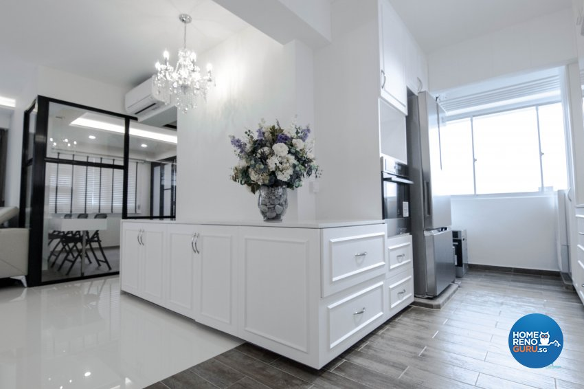 Classical, Contemporary, Scandinavian Design - Kitchen - HDB 4 Room - Design by 9 Creation Pte Ltd