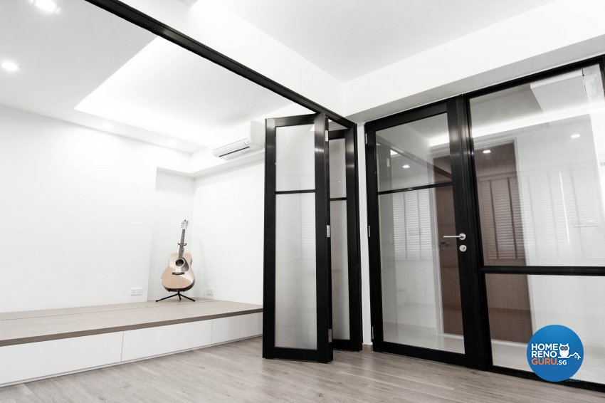 Classical, Contemporary, Scandinavian Design - Entertainment Room - HDB 4 Room - Design by 9 Creation Pte Ltd