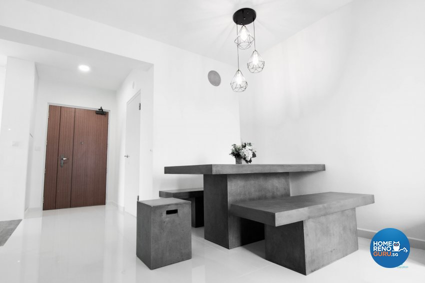 Classical, Contemporary, Scandinavian Design - Dining Room - HDB 4 Room - Design by 9 Creation Pte Ltd